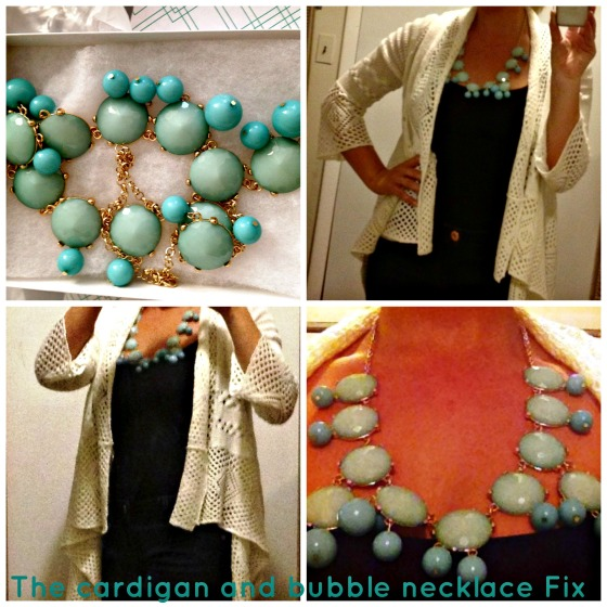 Cardigan and Necklace Collage