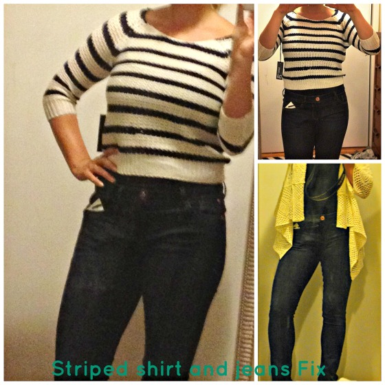Jeans and Striped Shirt Collage